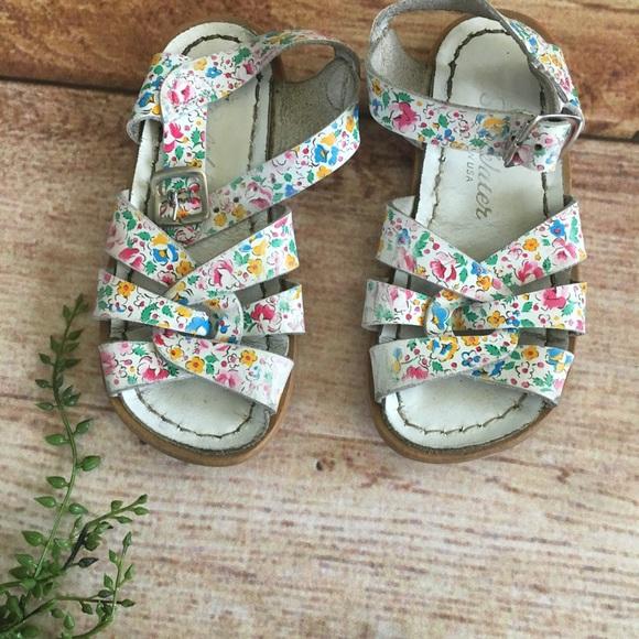 6b40809e9eac Saltwater floral sandals size 8 toddler girls. M 5b906e0bd8a2c769c59927c4